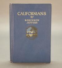 2 Books incl: Robinson Jeffers. Californians. 1916