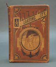 Verne. A Floating City... 1874. 1st American ed.