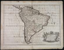 L?America Meridionale. Map by Sanson and de Rossi.
