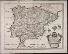 3 Maps incl: Veteris Hispaniae Tabulam. 1710.