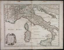 2 Maps: L?Italia + Italia Antiqua.