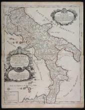 2 Maps by de Rossi incl: Regno Di Napoli.