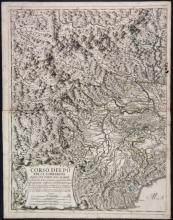 3 maps incl 2 sheets of Corso Del Po... 1703.