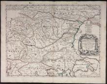 De Rossi. Corso Del Danubio... (Danube River map).