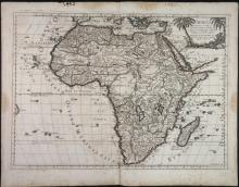 L'Africa. Map by Sanson, revised by De Rossi.