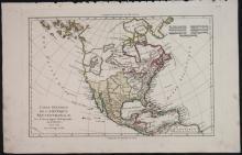 5 Maps by R. Bonne, 1780-82: US, North America...