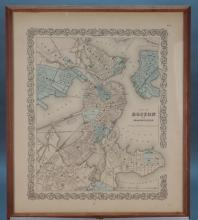 3 Maps incl: Map Of Boston And Adjacent Cities.