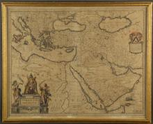Turcicum Imperium. Map. Bleau, [early-mid 1600s].