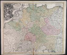 4 Maps: Central Europe. Homann, Thomson , de Witt.
