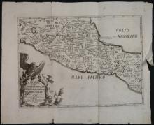Anahuac O Sia L?Impero Messicano... 1780. Map.