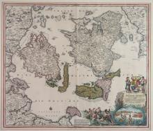 5 maps: West India Islands, Insulae Danicae...