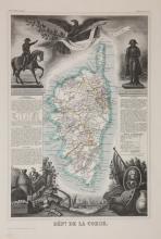 33 maps from Levasseur?s ?Atlas National Illustre