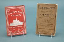 4 items: 2 pocket maps, school atlas, almanacs.