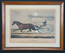 2 Lithographs: Currier & Ives, horses.