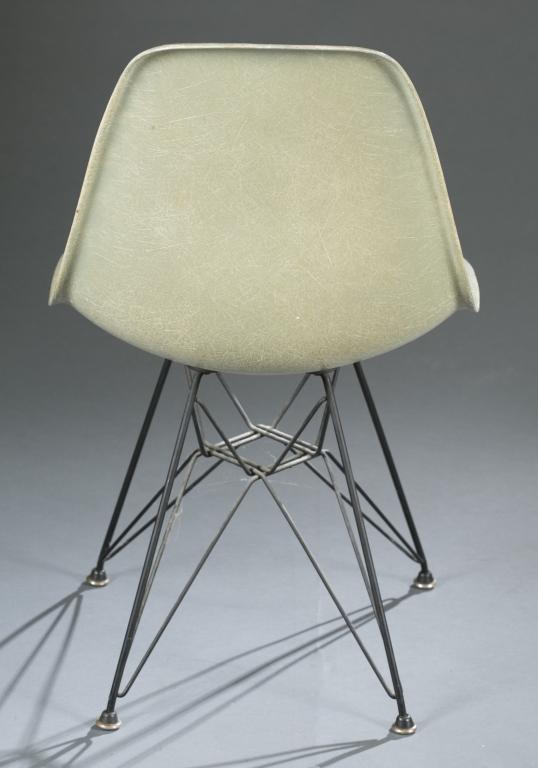 eames fiberglass shell chair for herman miller. Black Bedroom Furniture Sets. Home Design Ideas