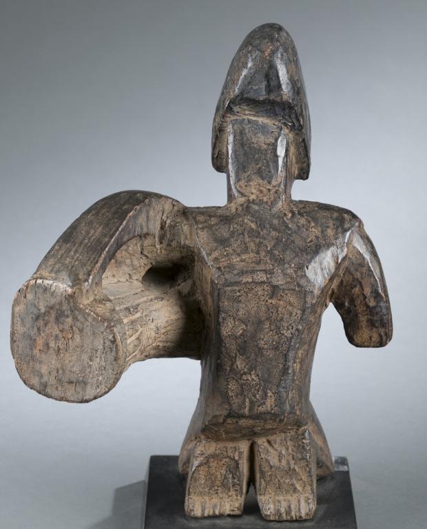 Kneeling Yoruba Drummer. 20th Century