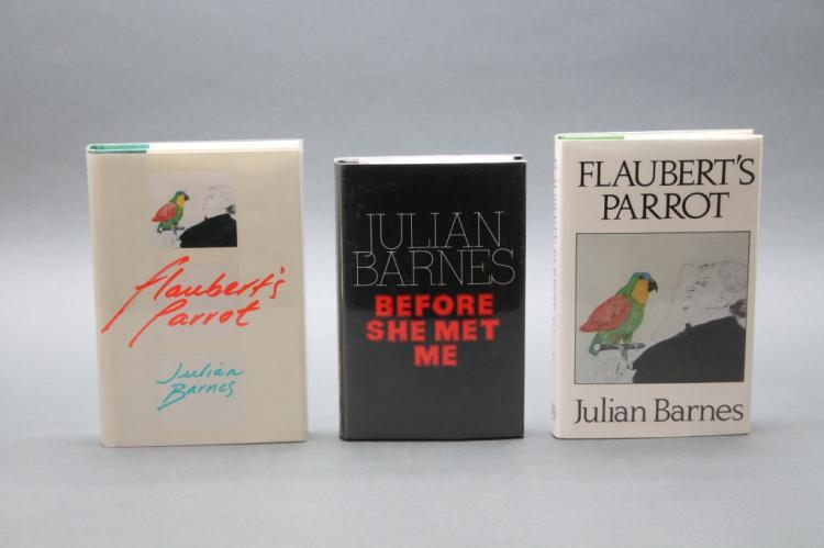 3 books incl: FLAUBERT'S PARROT, signed by Barnes.