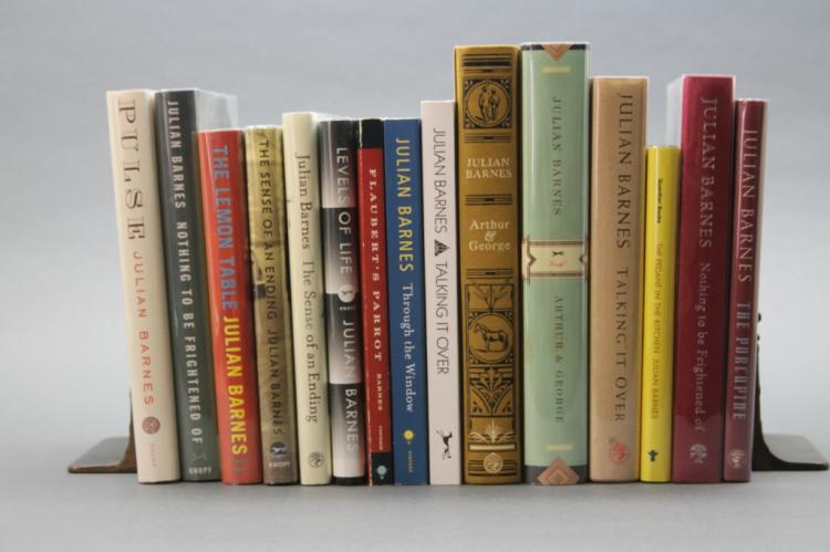 15 books by Julian Barnes (7 signed).