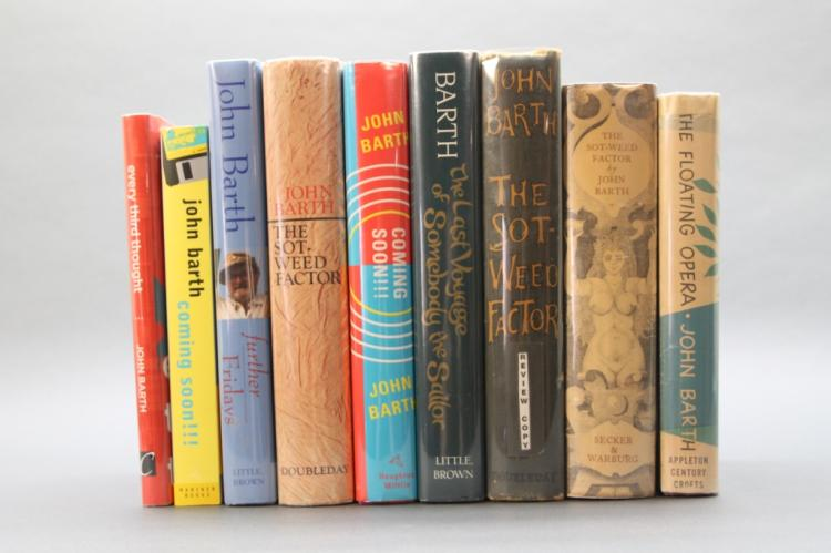 9 Books (8 signed by John Barth).