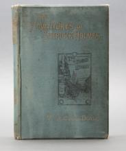 THE ADVENTURES OF SHERLOCK HOLMES. 1st book ed.