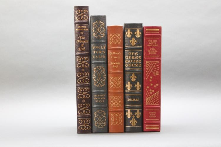 5 Books: 4 Easton Press, 1 signed Franklin Library