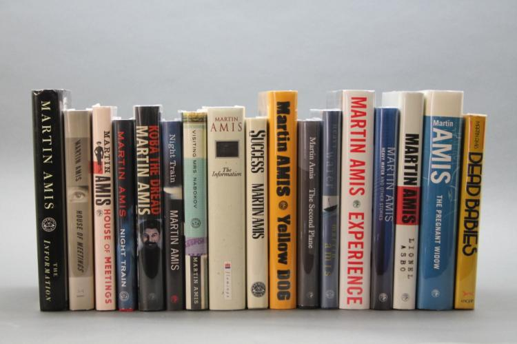17 signed books: Martin Amis, mostly firsts.