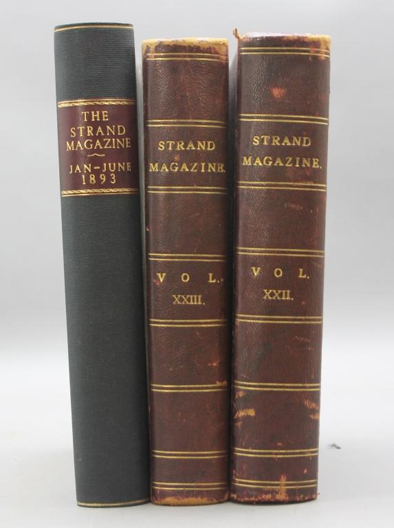 THE STRAND MAGAZINE. 3 Vols incl: ...BASKERVILLES.