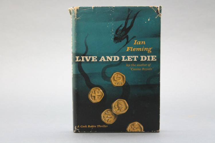 Fleming. LIVE AND LET DIE. 1955. 1st US ed. in dj