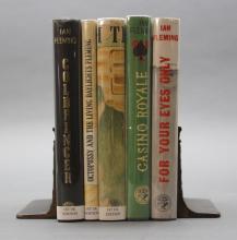 5 Titles: Ian Fleming. GOLDFINGER, GOLDEN GUN...
