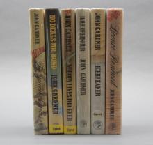 6 James Bond books: 5 signed by John Gardner.