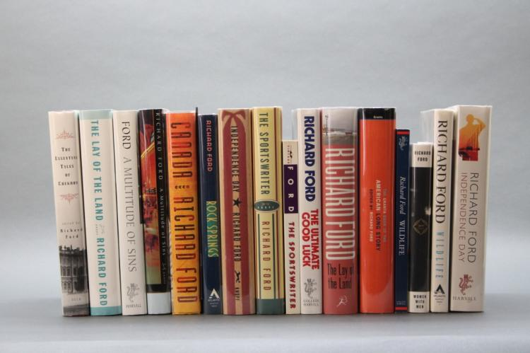 16 books signed by Richard Ford (mostly firsts).
