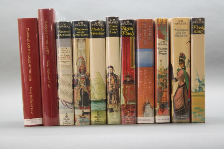 11 MacDonald Flashman books w/ 2 sgd limited eds.