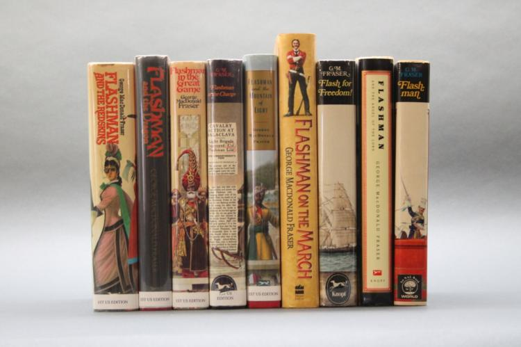 9 MacDonald Flashman books:  American First Eds.