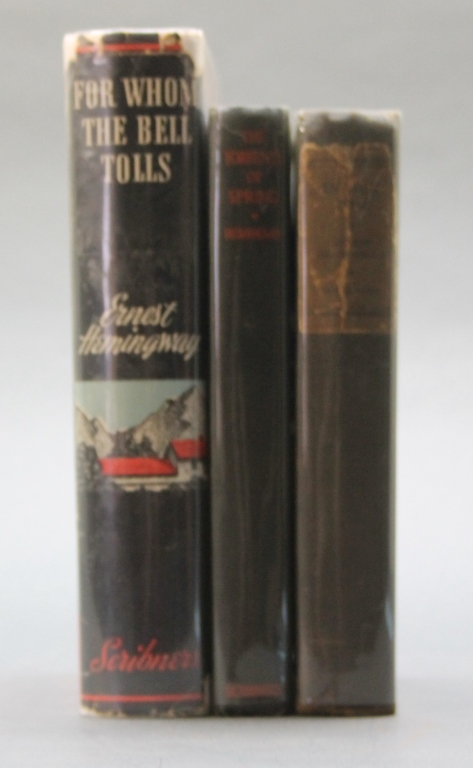 3 Books incl FOR WHOM THE BELL TOLLS. 1st issue dj