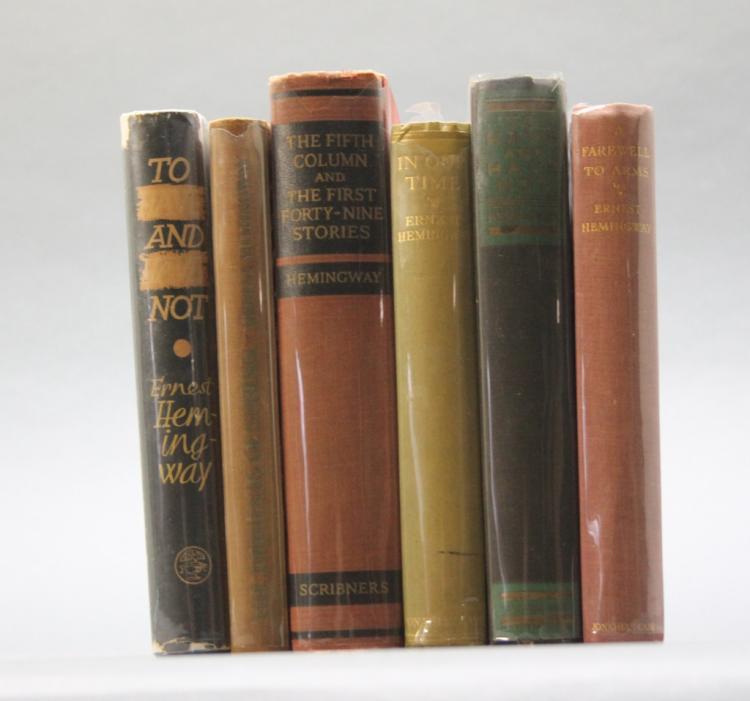 6 Books incl: Ernest Hemingway, THE FIFTH COLUMN.