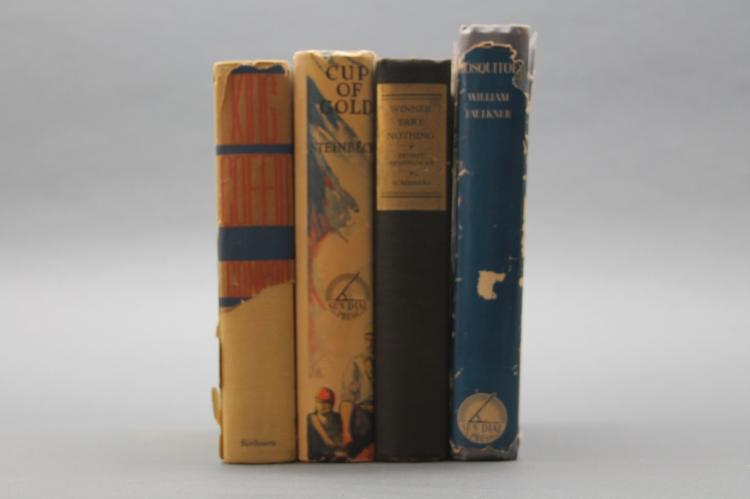 4 books incl: Hemingway. WINNER TAKE NOTHING, 1933