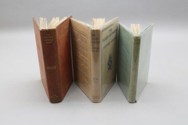 3 Books incl THE SECOND JUNGLE BOOK, 1st edition.