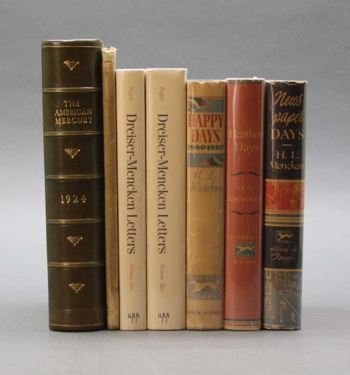 7 Vols incl NEWSPAPER DAYS signed by H. L. Mencken