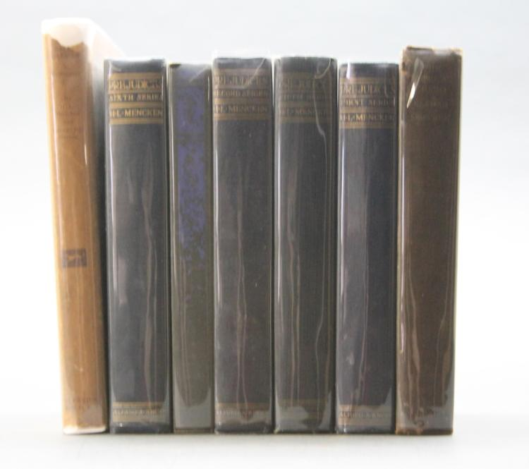 7 Vols: Mencken. HELIOGABALUS in dj, PREJUDICES...