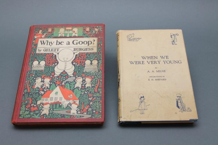 2 Books incl Milne. WHEN WE WERE VERY YOUNG (1924)