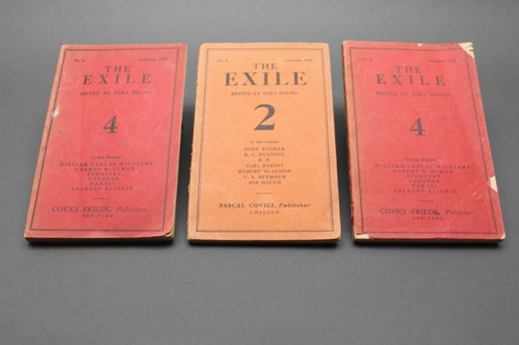 THE EXILE: 3 issues (1 of No. 2 and two of No. 4