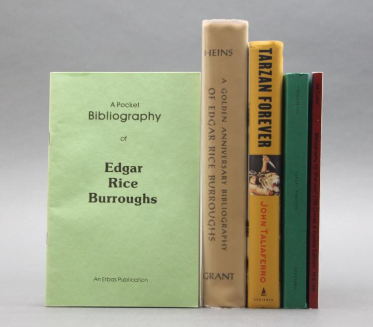 5 Books about Tarzan books, Edgar Rice Burroughs.