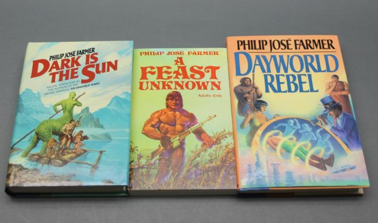 3 books: Philip Jose Farmer. 1 inscribed, 2 firsts