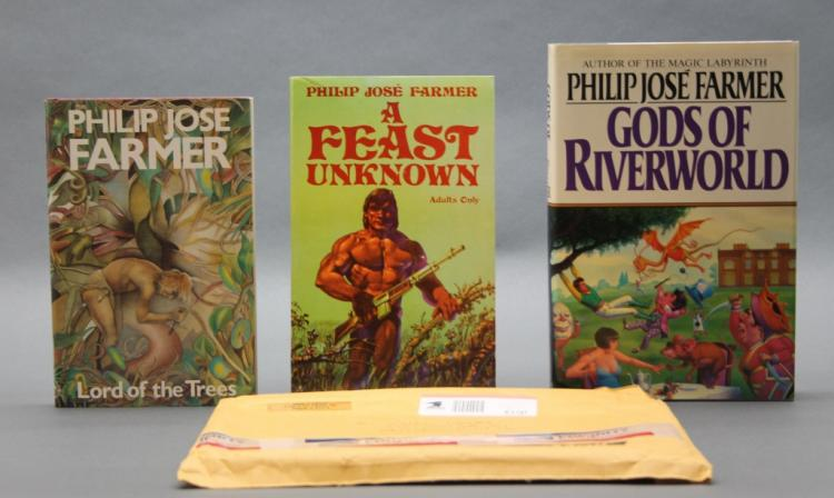 3 Philip Jose Farmer incl: A FEAST UNKNOWN signed.