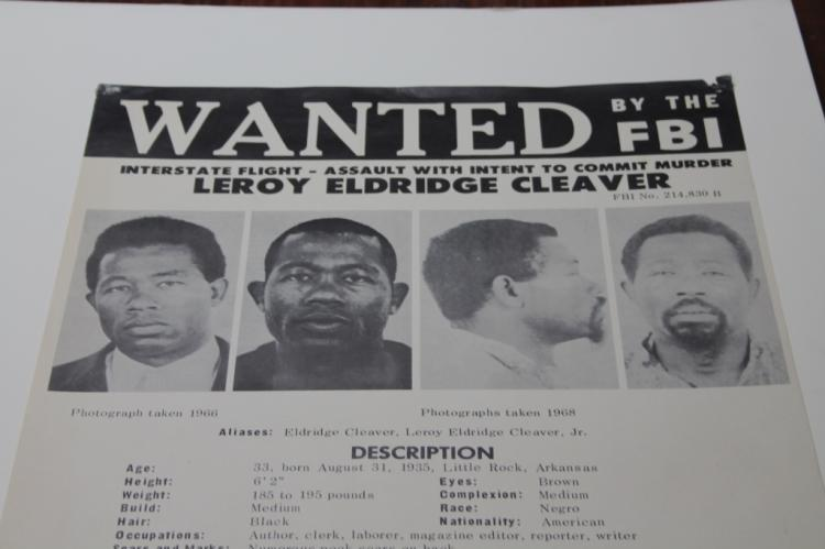 FBI wanted poster: Panther Leroy Eldridge Cleaver.