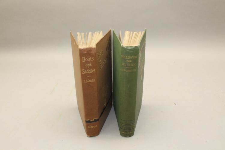 2 books (1 sgd, inscribed by Elizabeth B. Custer)