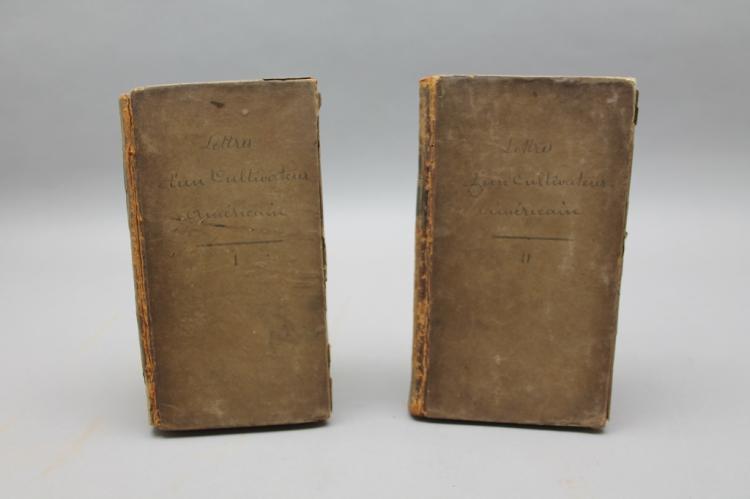 LETTRES D'UN CULTIVATEUR AMERICAIN. 2 Vols. 1784.