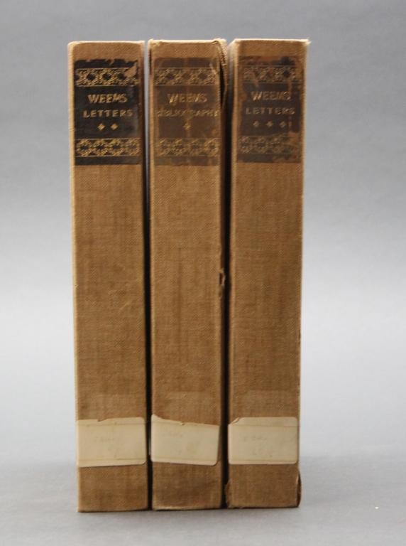 MASON LOCKE WEEMS. 3 Vols, incl Mansucript leaf.
