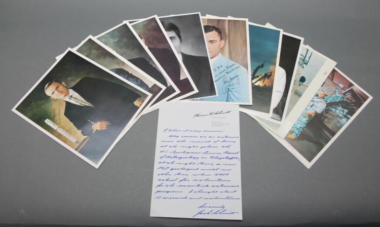 11 signed photos + ALS by NASA Apollo Astronauts.