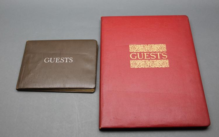 2 Autographed Guest Books: Paul Young's in Wash DC